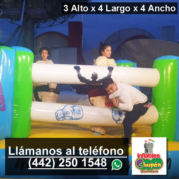 renta de inflable ring de box | queretaro
