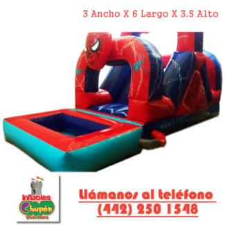 inflable acuatico del hombre araña queretaro