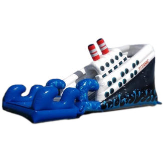 inflable acuatico barco titanic