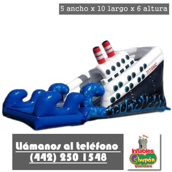 inflable barco titanic Queretaro