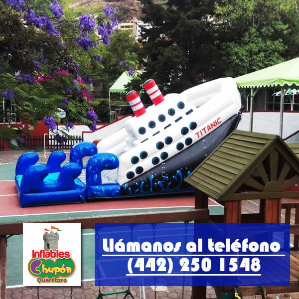 inflable para alberca barco titanic