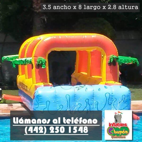 Inflable Acuatico Splash Renta De Juegos Inflables Queretaro Chupon