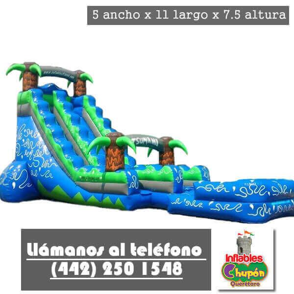 Renta de brincolin inflable queretaro tsunami